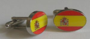 Spain Country Flag Cufflinks